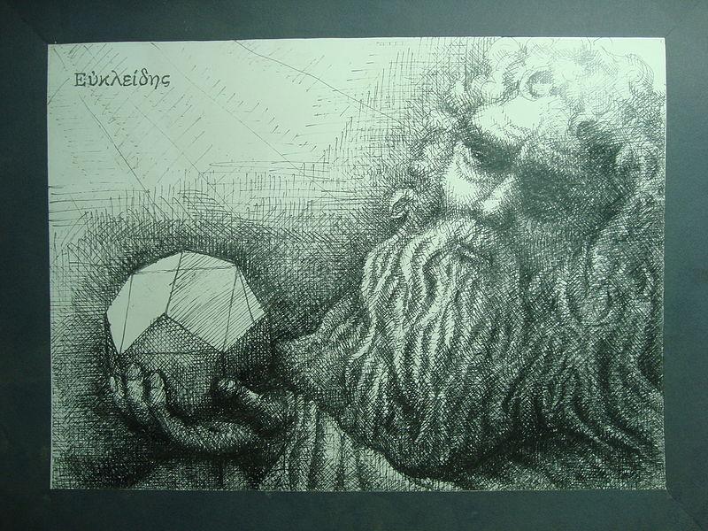 Archivo: la construcción de Euclides del dodecaedro sobre el cubo.JPG