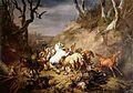Eugène Verboeckhoven - Hongerige wolven overvallen een groep ruiters.jpg