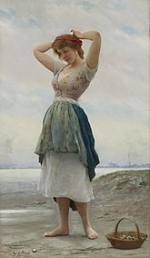 Eugene de Blaas On the Beach.jpg