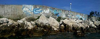 Euxinograd - The wall separating the beach for the government and for ordinary citizens.