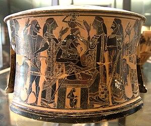 C Painter - Birth of Athena, exaleiptron, about 570/60 BC.