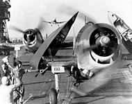 F6F-3 fighters landing on USS Enterprise (CV-6).jpg