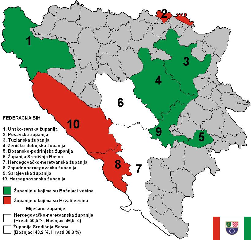 FBiH - etnički sastav stanovništva