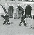 FHM-289345 WW2 Norway Germanske SS Norge SS-dagen 1943-08-15 Marching members parade banners Royal Palace Oslo NS Nazi Party leader Vidkun Quisling SS leader Wilhelm Rediess etc Frihedsmuseets fotoarkiv Nationalmuseet Denmark No known r.jpg