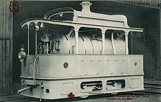 Fireless locomotive - Image: FLEURY CCCC Locomotive sans foyer, système Lamm Franck pour chemin de fer sur route, construite en 1888