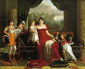François-Xavier Fabre - Image: Fabre Portrait de la générale Clarke avec ses quatre enfants, 1810