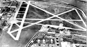 Fairfax Municipal Airport - Image: Fairfax Field KS 1950