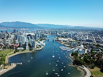 False Creek - False Creek from the air