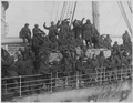 Famous (African American) regiment arrives home on the France. New York's famous 369th (old 15t . . . - NARA - 533528.tif