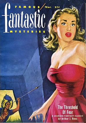 Arthur J. Rees - Rees's 1925 novel The Threshold of Fear was reprinted in the March 1951 issue of Famous Fantastic Mysteries