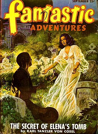 Fantasy fiction magazine - Fantastic Adventures magazine