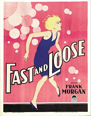 Fast and Loose (1930 film) - Theatrical poster