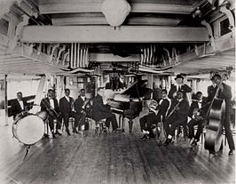 Fate Marable met de New Orleans Band op de S.s. Sidney in 1918 of 1919