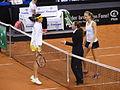 Fed Cup 2013 Germany vs Serbia - Prematch Barthel Ivanovic 01.jpg