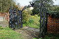 Feeringbury Manor black sculpted gates, Feering Essex England.jpg