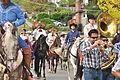 Fiestas Patrias Parade, South Park, Seattle, 2015 - 248 - horses and band (20975350443).jpg
