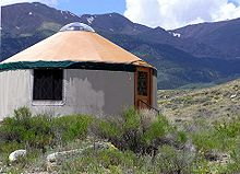 Yurt wikipedia for Permanent camping tents