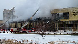 Fire in the library of the INION 2015-01-31 4463.jpg