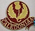 Fire mark for Caledonian Insurance Company in Edinburgh, Scotland.jpg