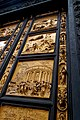 Firenze - Florence - Piazza di San Giovanni - View WSW & Up on the Gates of Paradise 1452 by Lorenzo Ghiberti (Copy 2006).jpg