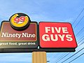 Five Guys 99 Restaurant (Norwich, Connecticut) (42139625661).jpg