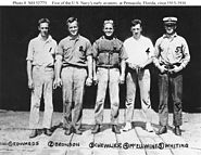 Five early American naval aviators at Pensacola, Florida