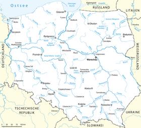 Rio Oder Mapa Fisico.Vistula Wikipedia La Enciclopedia Libre