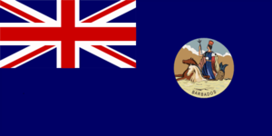 Flag of Barbados (1870–1966).png