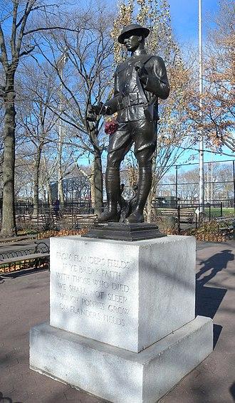 DeWitt Clinton Park - Flanders Field Memorial