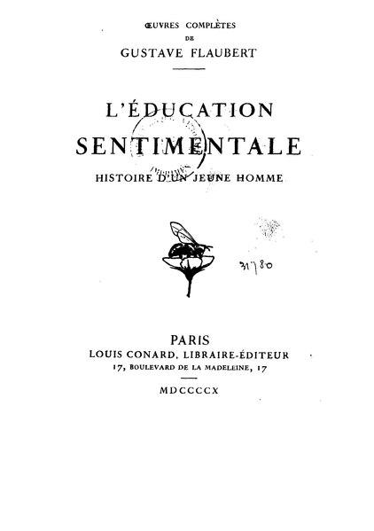 File:Flaubert - L'Éducation sentimentale éd. Conard.djvu