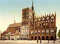 Flickr - …trialsanderrors - Town hall and St. Nicholas Church, Stralsund, Pomerania, Germany, ca. 1895.jpg