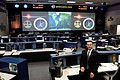 Flight director Norm Knight in the Shuttle (White) Flight Control Room.jpg