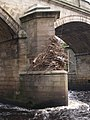 Flood debris on Bywell Bridge - geograph.org.uk - 1114579.jpg