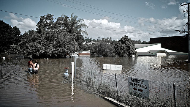 Picture of flooding in Ipswich