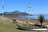Floral Display & Beach, Whiting Bay (geograph 3593640).jpg