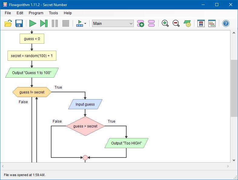 Flowgorithm Editor
