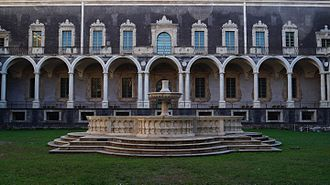 Monastery of San Nicolò l'Arena - The Marble Cloister corresponds to the original square plan of the monastery founded in 1558