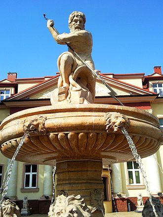 Czeladź - Fountain in front of Saturn Palace