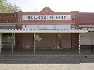 Dan Blocker - The former Blocker Store is now an abandoned building in downtown O'Donnell.