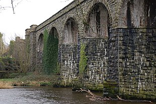 """The former <a href=""""http://search.lycos.com/web/?_z=0&q=%22Northern%20Counties%20Committee%22"""">Northern Counties Committee</a> railway viaduct at <a href=""""http://search.lycos.com/web/?_z=0&q=%22Randalstown%20railway%20station%22"""">Randalstown railway station</a>."""