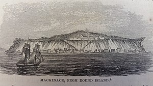 Pacific Fur Company - Fort Mackinac was a center of the Great Lakes regional fur trade