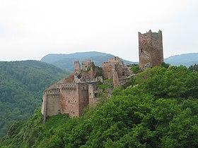 Die kasteel st. ulrich, ribeauvillé (frankryk)