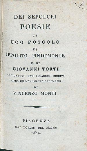 Ugo Foscolo - Dei Sepolcri, 1809