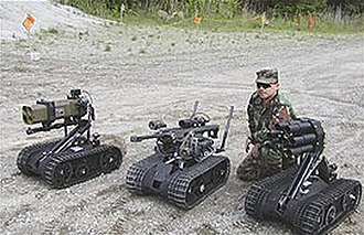 Military robot - Foster-Miller TALON SWORDS units equipped with various weaponry