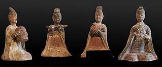 Four-statuette set depicting musicians
