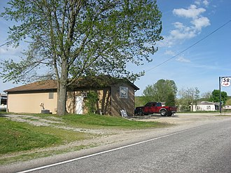 Kurtz, Indiana - Scene along Fourth Street