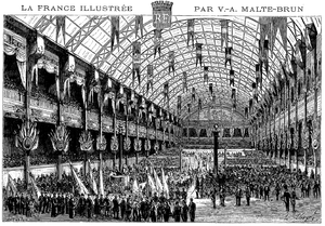 Palais de l'Industrie - Main hall during the 1878 Exposition