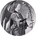 Francesco del cossa, angelo annunciante, dal polittico griffoni, 1473, 25 cm, gazzada.jpg