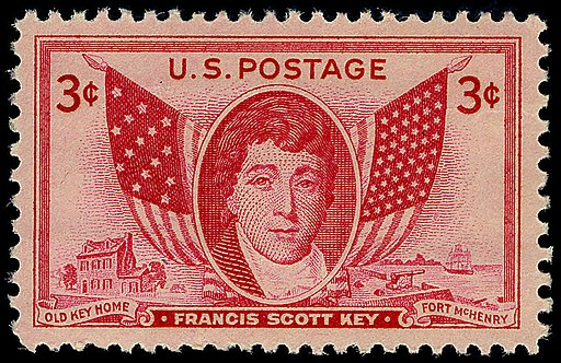Francis Scott Key 3c 1948 issue U.S. stamp