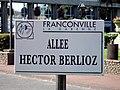Franconville - Plaque Allee Hector-Berlioz.jpg